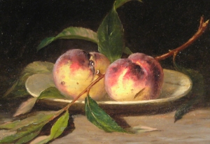 peale-still-life-peaches-oil-on-canvas-detail